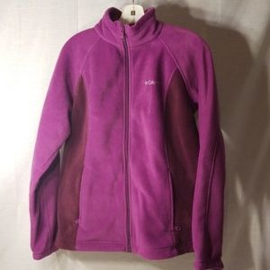 Purple plum Columbia fleece jacket